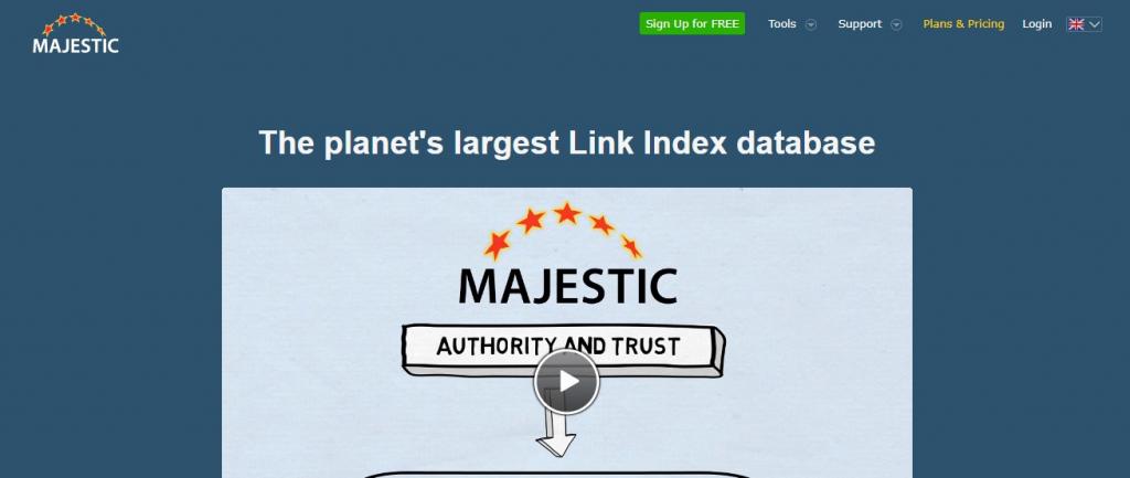 Majestic seo - link building tool