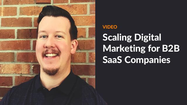 digital marketing for B2B saas companies